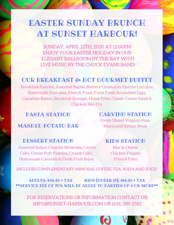 Easter Sunday Brunch at Sunset Harbour